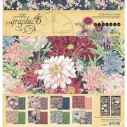 "Graphic 45 Pad 12"" X 12"" Fleurs"