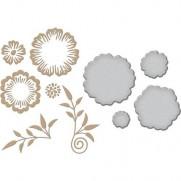 Spellbinders Glimmer Hot Foil Plate Fleurs