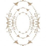 Spellbinders Glimmer Hot Foil Plate Ovales ornés impériaux