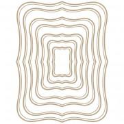 Spellbinders Glimmer Hot Foil Plaque Étiquettes Rectangulaires