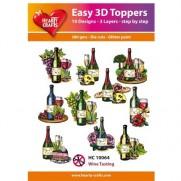 Hearty Crafts 3D toppers Dégustation de Vins