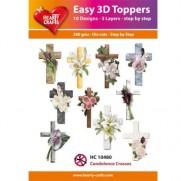 Hearty Crafts 3D toppers Croix pour Condoléances