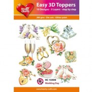 Hearty Crafts 3D toppers Mariage