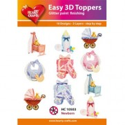 Hearty Crafts 3D toppers Nouveau-Né