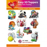 Hearty Crafts 3D toppers Sports & Hobby