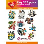 Hearty Crafts 3D toppers Sports & Passe-temps