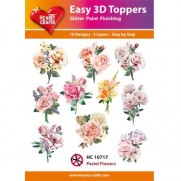 Hearty Crafts 3D toppers Fleurs Pastels