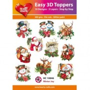 Hearty Crafts 3D toppers Joies hivernales