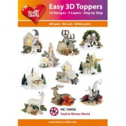 Hearty Crafts 3D toppers Monde hivernal