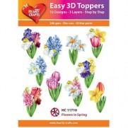 Hearty Crafts 3D toppers Fleurs au printemps