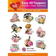 Hearty Crafts 3D toppers Roses vintages