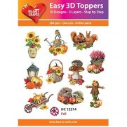Hearty Crafts 3D toppers Automne