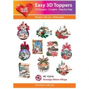 Hearty Crafts 3D toppers Village Hivernal