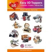 Hearty Crafts 3D toppers Classiques pour Hommes