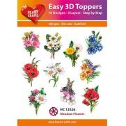 Hearty Crafts 3D toppers Fleurs des Prés