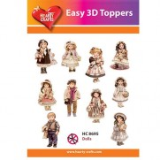 Hearty Crafts 3D toppers Poupées