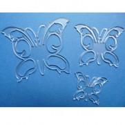 Acrylique 3 Papillons