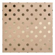 Bazzill Foiled Kraft Gold Dot