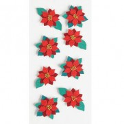 Little B minis autocollants 3D Poinsettias