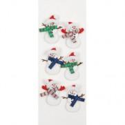 Little B minis autocollants 3D Bonhommes de Neige