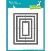 Lawn Fawn Matrice de découpe Cross Stitched Rectangles larges