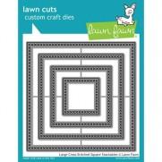 Lawn Fawn Matrice de découpe Cross Stitched Carrés larges