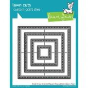 Lawn Fawn Matrice de découpe Cross Stitched Carrés petits