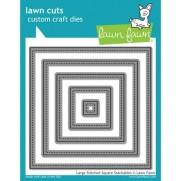 Lawn Fawn Matrice de découpe Large Stitched Carrés