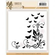 Jeanine's Art Plaque Embossage & Die Oiseaux & Fleurs