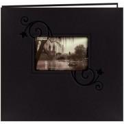 """Pioneer Album 12""""x12""""relié en similicuir gaufré noir"""
