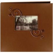 """Pioneer Album 12""""x12"""" relié en similicuir gaufré brun"""