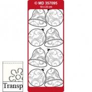 Peel Off Boules & Cloches Transparent//Argent