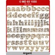 Peel Off Lettres minuscules Argent
