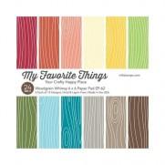 """My Favorite Things Pad 6""""X6"""" Grain de bois de Fantaisie"""