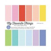 """My Favorite Things Pad 6""""X6"""" Polka Dots d'été"""