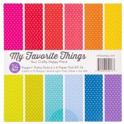 "My Favorite Things Pad 6""X6"" Poppin' Polka Dots"