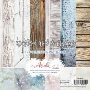"""Asuka Studio Collection 6""""X6"""" Bois vieilli et cristaux"""