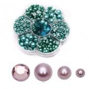 Blings et Perles violets non-adhésifs à endos plat