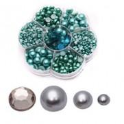 Blings et Perles argents non-adhésifs à endos plat