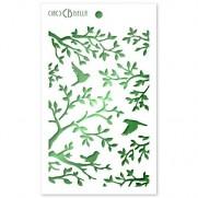 "Ciao Bella 5""X8"" Stencil Trois Oiseaux"