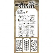 Tim Holtz Ensemble Mini Stencil 31