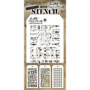 Tim Holtz Ensemble Mini Stencil 1