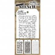 Tim Holtz Ensemble Mini Stencil 20