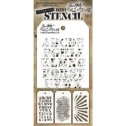 Tim Holtz Ensemble Mini Stencil 5