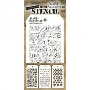 Tim Holtz Ensemble Mini Stencil 6