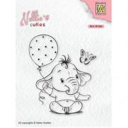 Nellie's Choice Étampe Bébé Éléphant avec Ballons