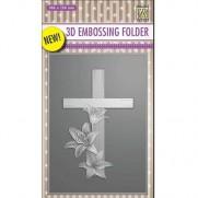 Nellie's Choice Plaque embossage 3D Croix