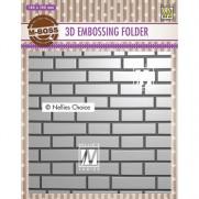 Nellie's Choice Plaque embossage 3D Mur de Briques