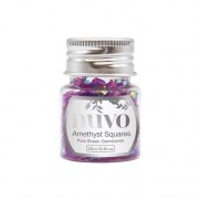 Nuvo Pure Sheen Gemstones Amethyst Squares