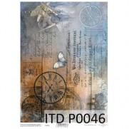 Papiers de scrapbooking translucides Horloges Papillons